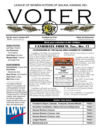 Thumbnail image of the cover of The Voter newsletter